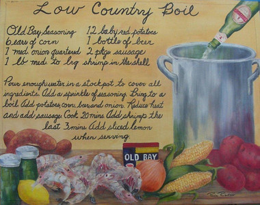 Low Country Boil Floormat Sold