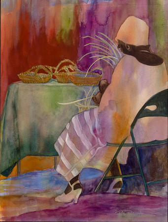 Name: Charleston Basket Weaver Medium: Watercolor Size: 12.5 X 16.5 Price: $450 Contact: Paula Robertson E-Mail: paulamrobertson@yahoo.com