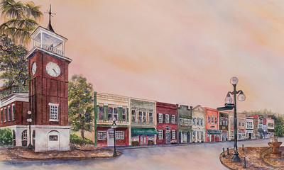 "Name: Georgetown SC ""The Way We Were""  (5:23 pm Sept.24, 2013)   Prints available at www.paula-robertson.com Medium: Watercolor Size: 18 X 30 Price: $1,800 E-Mail: paulamrobertson@yahoo.com     Artist - Paula Roberton"