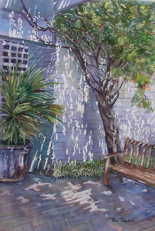 Name: Come Sit A While Medium: Watercolor Size: 21 x 15 Price: $400.00 E-Mail: paulamrobertson@yahoo.com