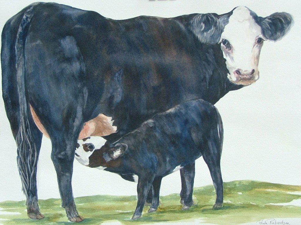 Name: Nothing but Mother's Milk for My Baby<br /> Medium: Watercolor<br /> Size:  22 x 30<br /> Matted and framed<br /> Price: $450.00<br /> E-Mail: paulamrobertson@yahoo.com