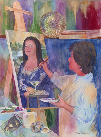 Name: Self Portrait Medium: Watercolor Size: 22 X 30 Price: $ NFS Contact: Paula Robertson E-Mail: paulamrobertson@yahoo.com