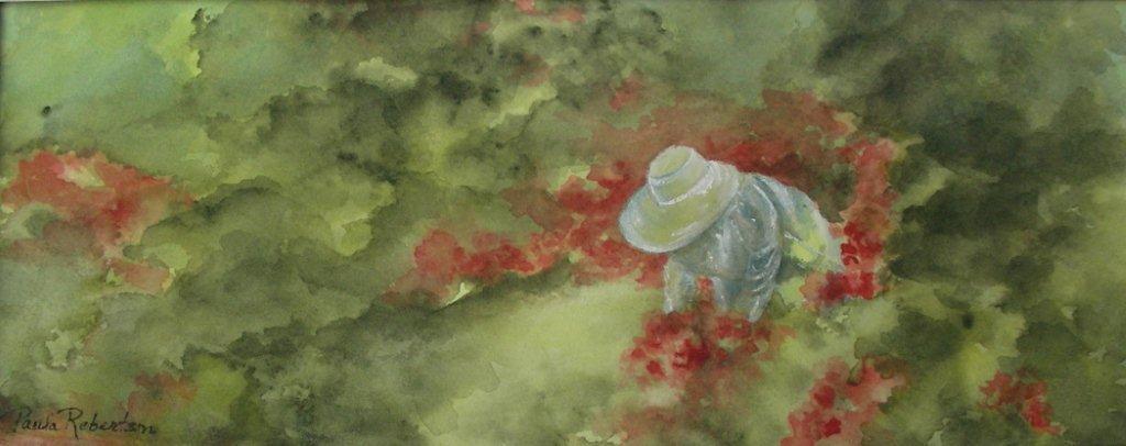Name: In Her Garden<br /> Medium: Watercolor<br /> Sold