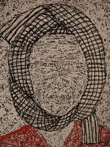 Pen Robit, Untitled, 2011. Enamel on Canvas, 44 x 53 in., <b> SOLD </b>