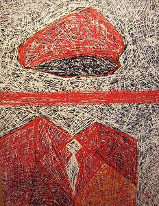Pen Robit, Untitled, 2012. Enamel on canvas, 44 x 56 in., SOLD