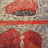 Pen Robit, Untitled, 2012. Enamel on canvas, 44 x 56 in.,<b> SOLD </b>