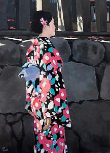 Pham Luan - Woman in Kimono