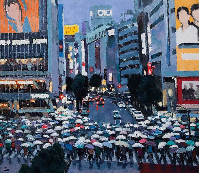 Pham Luan - Shibuya Crossing - A Rainy Afternoon