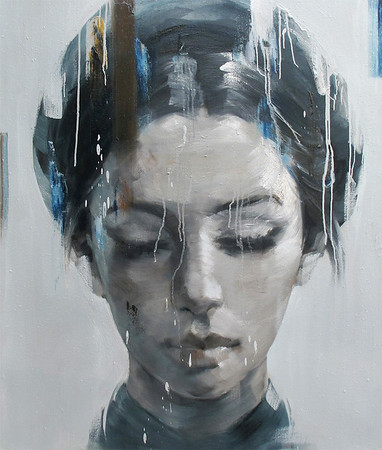 Artist - Phuong Quoc Tri   Title - Portrait of a Woman 41  Medium - Oil on Canvas     Dimensions - 110cm  x 130cm   Status - Private Collection Tokyo