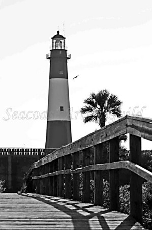 "Name: Tybee Island Light Medium: Framed Giclee archival photographs printed on canvas Size: 11"" X 14"" Price: $125 Contact: Ron Blanchard E-Mail: ronblanchardphotography22@gmail.com"