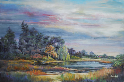 Name: A September Day Medium: Oil on Canvas Size: 29 1/2 x 41 Contact: Sharon Sorrels E-Mail: sorrelssf@usa.net  To see more of Sharon's art or to make a purchase, go to www.sharonsorrels.com.