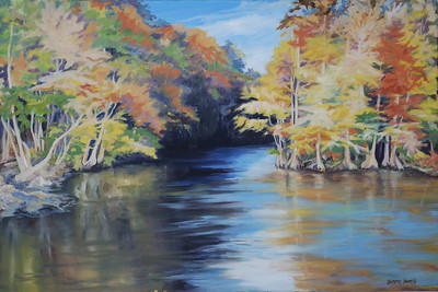 Name: Waccamaw Autumn Medium: Oil on Canvas Size:  Contact: Sharon Sorrels E-Mail: sorrelssf@usa.net  To see more of Sharon's art or to make a purchase, go to www.sharonsorrels.com.