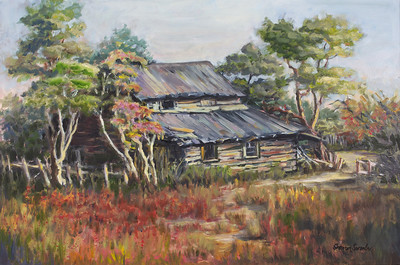 Name: Old Homestead Medium: Oil Size: 20 X 30 Contact: Sharon Sorrels E-Mail: sorrelssf@usa.net  To see more of Sharon's art or to make a purchase, go to www.sharonsorrels.com.