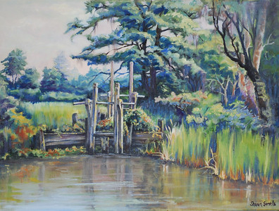 Name: Old Rice Field Sluice Gate Medium: Oil on Canvas Size:  Contact: Sharon Sorrels E-Mail: sorrelssf@usa.net  To see more of Sharon's art or to make a purchase, go to www.sharonsorrels.com.