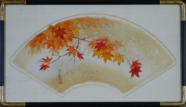 Shoko Ohta - Autumn Leaves - Fan style 扇面 紅葉