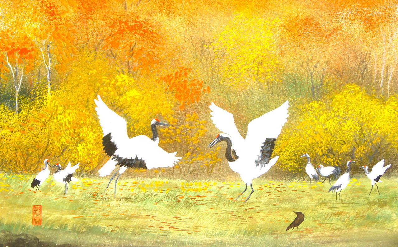 Shoko Ohta - Cranes in Autumn