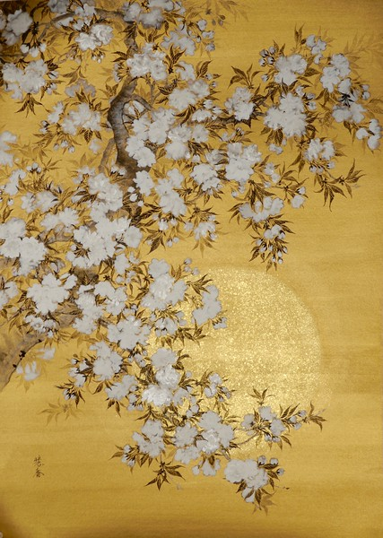 Suiko Ohta - Yae in the bright sunshine  (Double cherry blossoms) 日照の八重