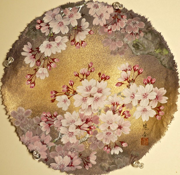 Suiko Ohta - Cherry Blossoms at Night 夜桜