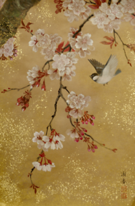 Shoko Ohta - A Chickadee in the Cherry Blossoms 桜に四十雀