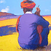 Than Kyaw Htay, The Turban (9), 2013. Oil on canvas, 41 X 36 in. <b> SOLD ,</b>