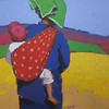 Than Kyaw Htay,Traveling baby (4), Oil on canvas, 2013