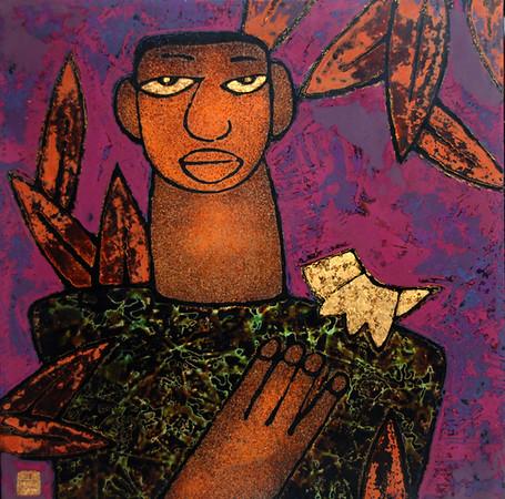 Trinh Tuan - Young Man with Bird