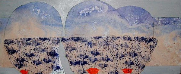 Dream and Reality, 2011, acrylic on canvas, 47 X 20 in.