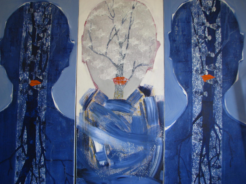 Winter Sleeping (3 panels), 2011,acrylic on canvas, 60 X 47 in.