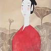 Vu Thu Hien, Lotus Dreaming 2; Watercolour on Dzo paper; 24 x 32 in ; 2013 <b> (SOLD) </b>