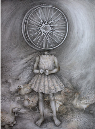Yim Maline; Guide; Graphite on paper; 32 x 44 in ; 2012- No longer available