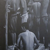 Yan Naing Tun, End of the working day, 2012. Acrylic on canvas, 36 X 48 in. <b> SOLD </b>