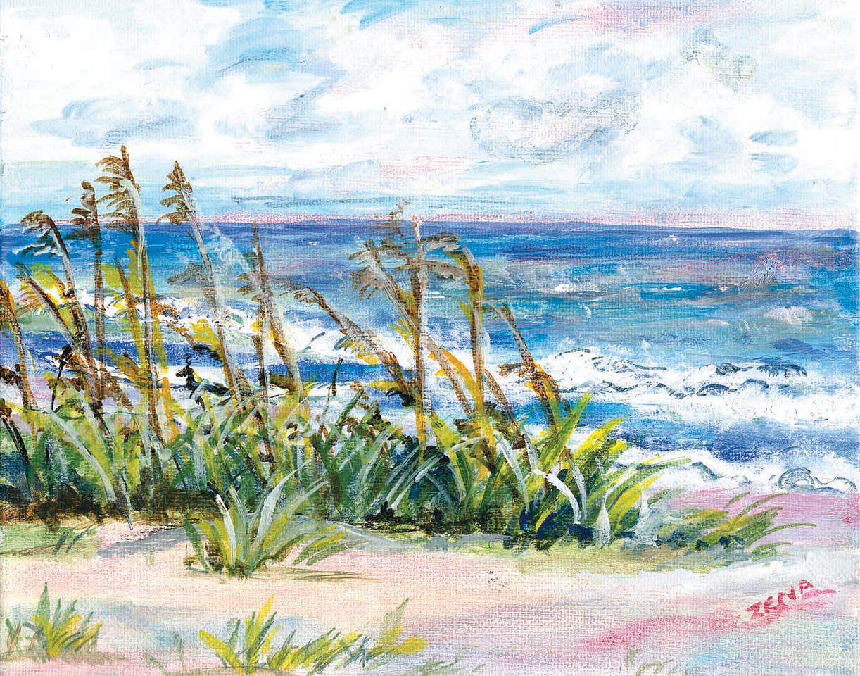 Name: Ocean<br /> Medium: Acrylic<br /> Size: 10x8<br /> Price: $30<br /> Contact: Zena Altman<br /> Email: zaltman1@hotmail.com<br /> Phone: 843-546-8153