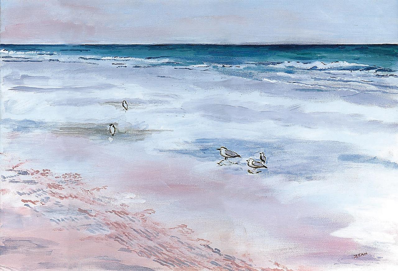 Name: Gulls on Beach<br /> Medium: Acrylic<br /> Size: 20x16<br /> Price: $75<br /> Contact: Zena Altman<br /> Email: zaltman1@hotmail.com<br /> Phone: 843-546-8153