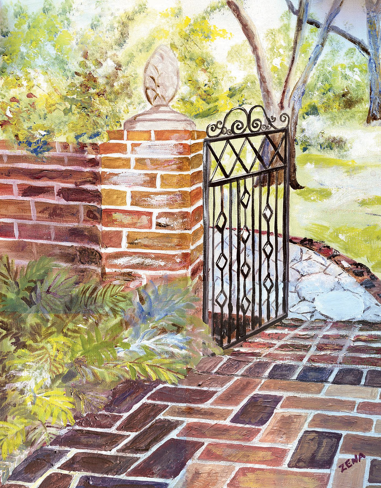 Name: Garden Path<br /> Medium: Acrylic<br /> Size:16x20<br /> Price: $200<br /> Contact: Zena Altman<br /> Email: zaltman1@hotmail.com<br /> Phone: 843-546-8153