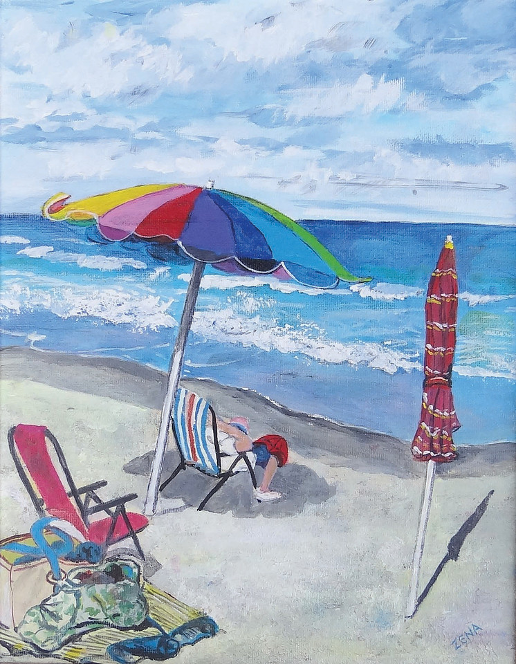 Name: At the Beach<br /> Medium: Acrylic<br /> Size: 11x14<br /> Price: $150<br /> Contact: Zena Altman<br /> Email: zaltman1@hotmail.com<br /> Phone: 843-546-8153