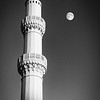 Minaret at Moonrise