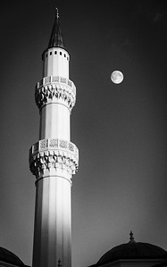 Minaret at Moonrise
