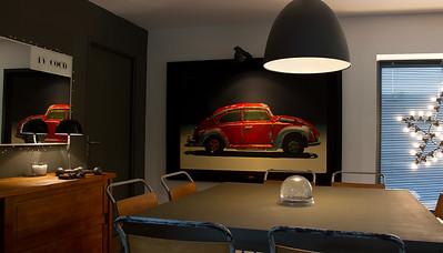 La Coccinelle-Tirage toile en caisse Americaine 175/115 cm