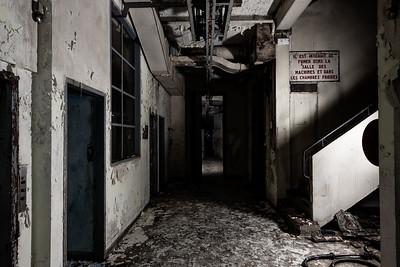 A l'entrée des chambres froides