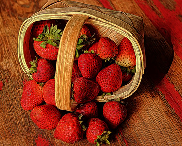 Strawberries in Basket Companion