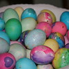 Bowl of colorful Easter eggs