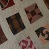 Block quilt handmade by Maxine in New Haven, Connecticut