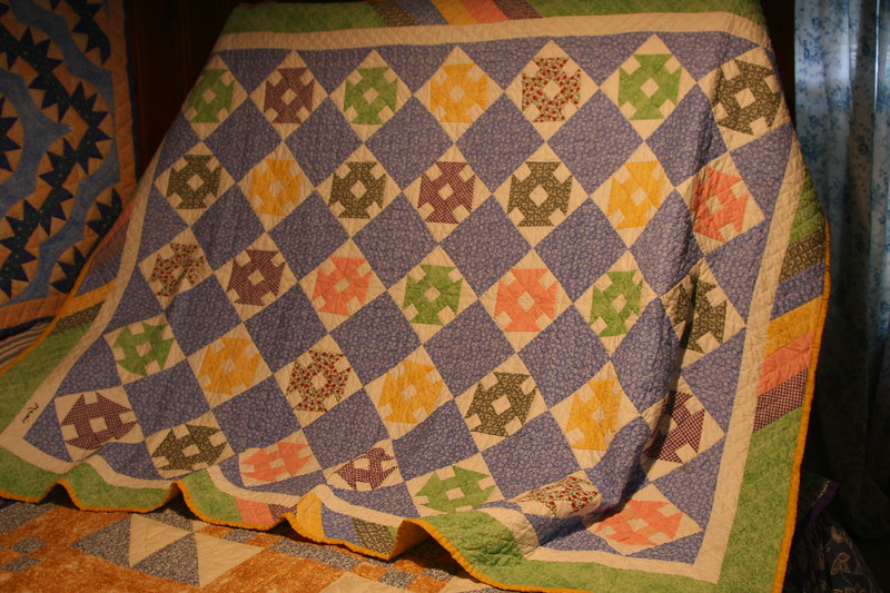 "Handmade quilt made by Maxine ""Maxi"" in New Haven, Connecticut"