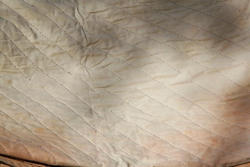 Back of cowboy quilt handmade for JW Staton in Okeechobee, FL