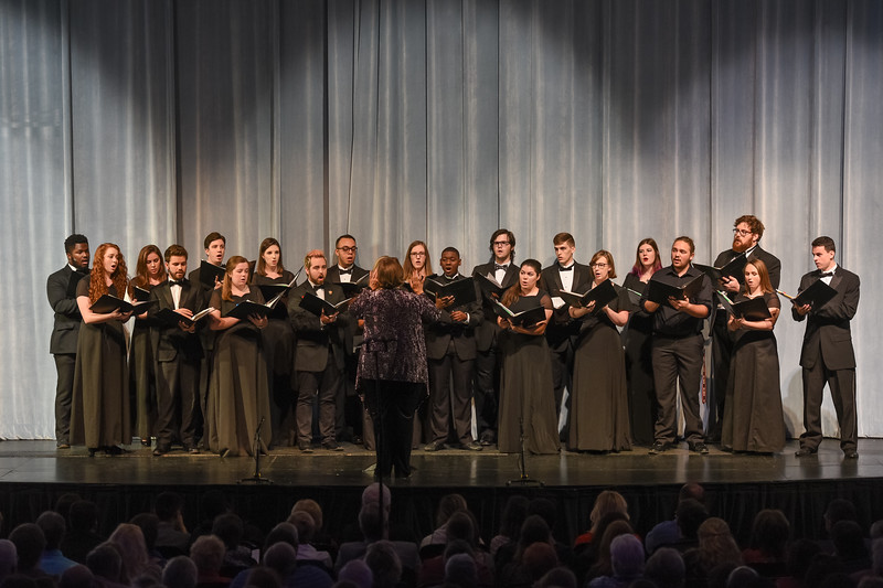 The Department of Music hosted the 2017 Annual Holiday Concert at Russell Auditorium