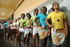 Inmates wait to parade during a beauty pageant at the Talavera Bruce prison, Rio de Janeiro, Brazil, November 24, 2009. A jury elects the most beautiful among 15 contestants of three prisons in a beauty pageant held at the Talavera Bruce prison. The Miss Talavera Bruce Beauty Pageant is an important break from the routine life of about 330 female inmates in the maximum security prison. The Rio de Janeiro prison is a notorious Bangu area, where some of Rio's top drug traffickers are held. The fifth annual pageant, which the VivaRio non-governmental organization helps organize, tries to transform these dangerous criminals into beautiful, dazzling, beauty pageant hopefuls for one day. (Austral Foto/Renzo Gostoli)