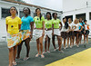 Inmates pose before parade during a beauty pageant at the Talavera Bruce prison, Rio de Janeiro, Brazil, November 24, 2009. A jury elects the most beautiful among 15 contestants of three prisons in a beauty pageant held at the Talavera Bruce prison. The Miss Talavera Bruce Beauty Pageant is an important break from the routine life of about 330 female inmates in the maximum security prison. The Rio de Janeiro prison is a notorious Bangu area, where some of Rio's top drug traffickers are held. The fifth annual pageant, which the VivaRio non-governmental organization helps organize, tries to transform these dangerous criminals into beautiful, dazzling, beauty pageant hopefuls for one day. (Austral Foto/Renzo Gostoli)