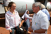 Italian-born artist Vanessa Beecroft is greeted by Bishop Caesar Mazzolari upon arrival to Rumbek for a visit to the missions of the Diocess of Rumbek, Southern Sudan, November 2005. South Sudan has been negatively affected by the First and Second Sudanese Civil Wars for all but 10 years since independence in 1956, resulting in serious neglect, lack of infrastructure development, and major destruction and displacement. More than 2 million people have died, and more than 4 million are internally displaced or have become refugees as a result of the civil war and war-related impacts. The Jan. 9. 2005 peace accord granted the region autonomy and as part of that, Southern Sudan is scheduled to have a referendum on independence in 2011(Australfoto/Douglas Engle)