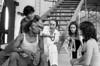 """Ballet Nacional de Mexico en Festival Cervantino, ensayo de """"La vida es sueno"""", Guanajuato, October,1983. Guillermina Bravo, Jesus, Lorena . (Austral Foto/Renzo Gostoli)"""