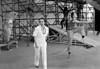 """Ballet Nacional de Mexico en Festival Cervantino, ensayo de """"La vida es sueno"""", Guanajuato, October,1983. Guillermina Bravo, Jesus . (Austral Foto/Renzo Gostoli)"""